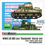 "US M3 Lee""Lulubelle"" decal set - Sahara 1943"