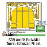 Pz.IV Ausf.H Early/Mid Turret Schurzen PE set
