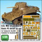 M3 Stuart Late Basic PE Detail up set (Tamiya)