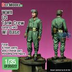 WWII US Tank crew Sahara 1943 w/base