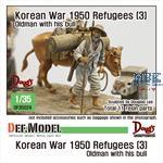 Refugees (3) Koera war 1950/51 Old man with bull