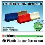 Modern 6ft Plastic Jersey Barrier set