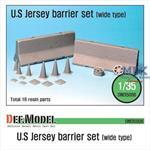 US Jersey Barrier set (Wide type)