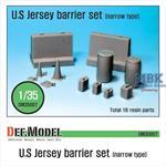US Jersey Barrier set (Narrow type)