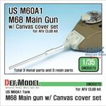 US M68 Main gun /w canvas cover set