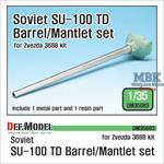 SU-100 TD D-10S Barrel / Mantlet set