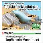 German StuG Topfblende Mantlet set