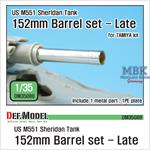 M551 Sheridan 152mm metal barrel set - Late