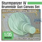 Sturmpanzer IV Brummbar Mid/Late Canvas cover set