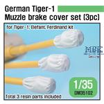 Tiger I  Muzzle brake Canvas cover set (3pc)