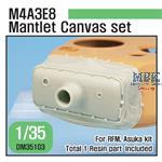 M4A3E8 Mantlet Canvas Covet set