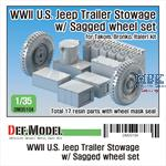 U.S. Willys Trailer Stowage w/ Sagged wheels set