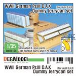 German Pz.III D.A.K Dummy Jerry can set
