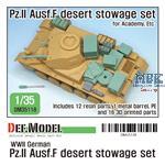 WWII German Pz.II Ausf.F Desert stowage set