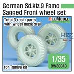 Sd.kfz.9 Famo Sagged Front Wheel set