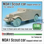 M3A1 Scout car Sagged Wheel set (For Tamiya 35363)