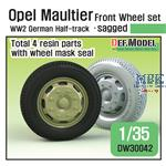 Opel Maultier Half-Track Sagged Front Wheel set