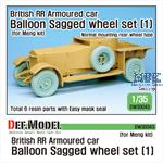 British RR Armoured car balloon wheel set 1