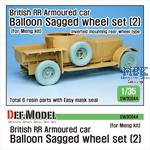 British RR Armoured car balloon wheel set 2