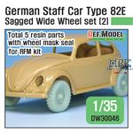 German Type 82E Sagged Wide Wheel set (2)