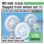 US M2/M3 Half-Track Sagged Front Wheel set