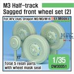 US M2/M3 Half-Track Sagged Front Wheel set (2)