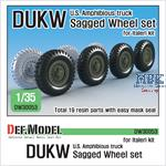 DUKW Amphibious Truck Wheel set