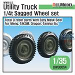 US 1/4 ton Utility Truck Wheel set
