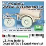 US Army Trailer & Dodge WC Extra Sagged Wheel set