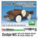 US Dodge WC 4X4 truck Sagged Wheel w/ snow chains