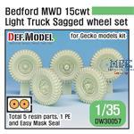 Bedford MWD 15cwt Truck Sagged Wheel set