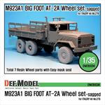 M923A1 BIG FOOT Truck GY AT-2A Sagged Wheel set