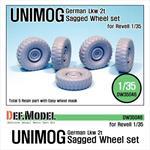 German UNIMOG Lkw 2t Sagged Wheel set