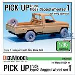 Pick up truck Type 2 Sagged Wheel set #1