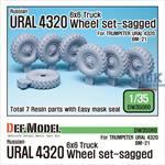 Russian URAL-4320 Truck / BM21 Sagged Wheel set