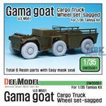 US M561 'Gama Goat' Sagged Wheel set