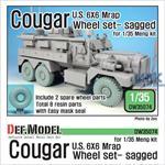 U.S Cougar 6x6 MRAP Sagged Wheel set