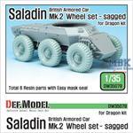 British Saladin MK.II Sagged Wheel set