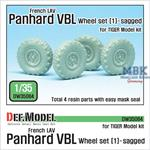 French Panhard VBL Sagged Wheel set