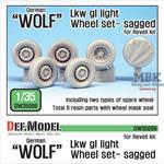 German 'Wolf' Lkw gl Iight Sagged Wheel set