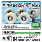 US M901 & AN/MPQ-53 Trailer Wheel set - Sagged