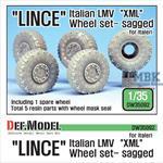 Italian LMV Lince Mich.'XML' Sagged Wheel set