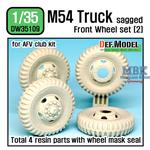 M54A2 Cargo Truck Sagged Front Wheel set (2)