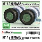 M142 HIMARS Sagged Wheel set (for Trumpeter)