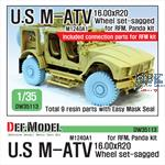 US M1240A1 M-ATV Sagged Wheel set
