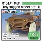 M151A1 Mutt Jeep Early Sagged Wheel set (1)