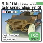 M151A1 Mutt Jeep Early Sagged Wheel set (2)