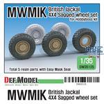 UK Jackal1 MWMIK 4x4 Sagged wheel set