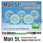 German Man 5t. mil gl Truck Sagged wheel set (2)