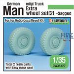 German Man milgl Truck Extra 2ea Sagged wheels (2)